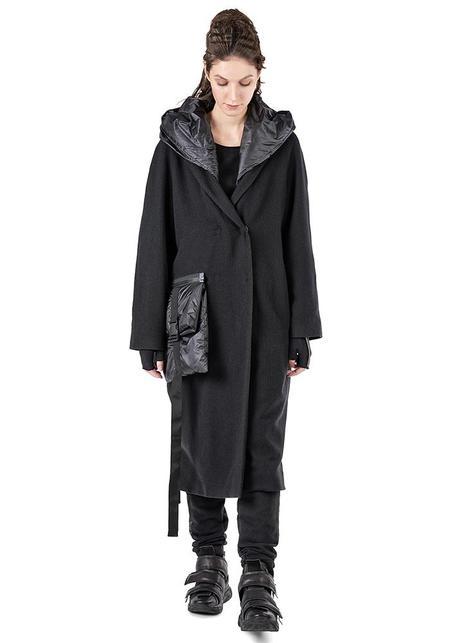 Studio B3 Aaron Transformable Hooded Jacket - BLACK/BEIGE