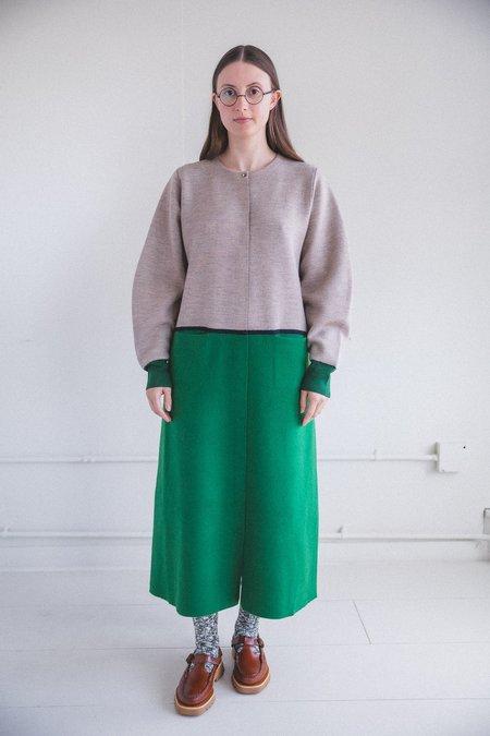 Antipast FELT FINISH KNIT DRESS - green/brown