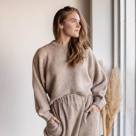 Atelier Delphine Balloon Sleeve Sweater - Grain