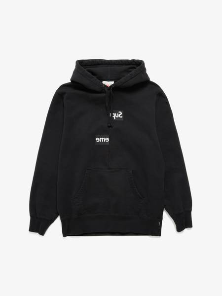 Pre-loved Supreme X Comme Des Garcons Shirt U Split Box Logo Hoodie sweater - black