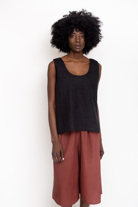 Revisited Matters Jute Tank Top / Black