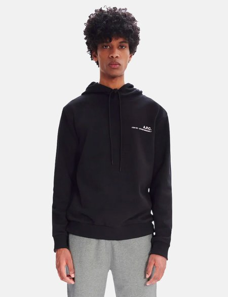 A.P.C. Item Hooded Sweatshirt - Black