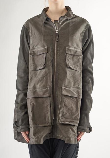 Rundholz Black Label A-Line Constrast Sleeve Bold Pocket Jacket - ANTHRA CLOUD