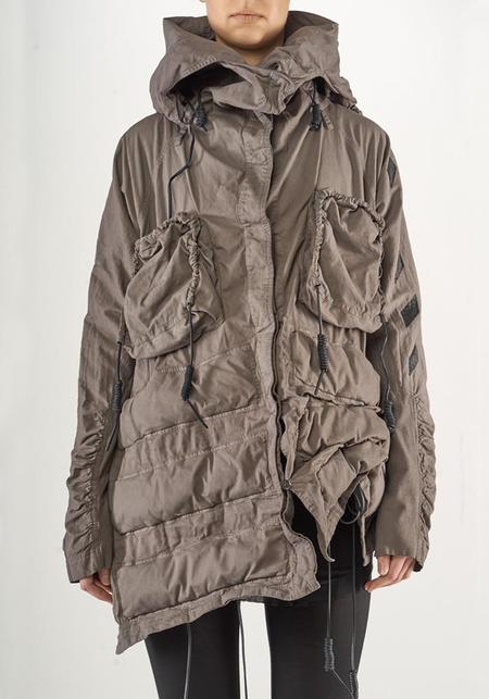 Rundholz Asymmetric Oversized Rolled Neck Bold Pocket Jacket - DOUGLAS PRINT