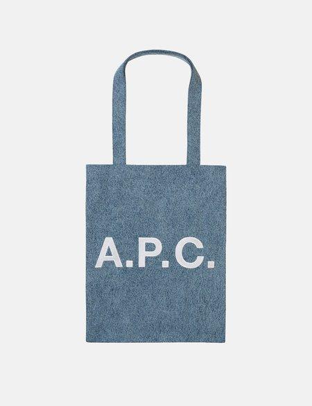 A.P.C. Lou Mini Anses Tote Bag - Indigo Blue