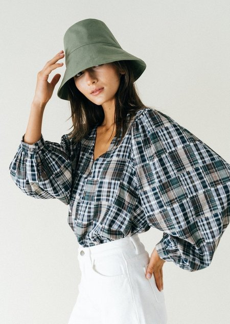 Bronze Age Aayla blouse - Stormy Plaid