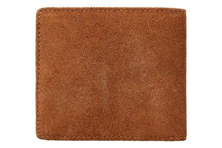 RRL Roughout Suede Billfold wallet - brown