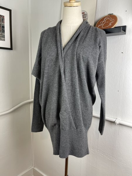 [Pre-Loved] Vince. Cashmere Wrap Front Sweater - Black