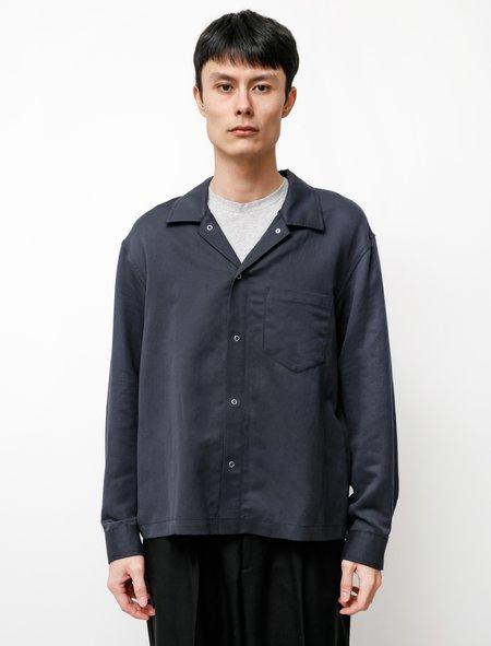 James Coward Workshop Linen Cotton Silk Shirt - Navy