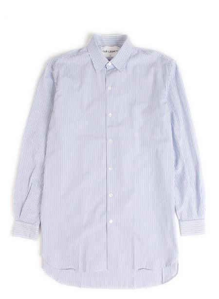 Our Legacy Dinner Shirt Light Blue Club Stripe