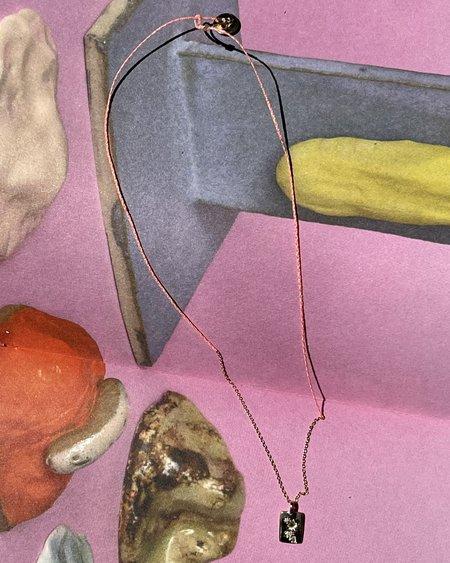 SCOSHA x BOW & ARROW BROOKLYN > SYDNEY DIAMOND TAG NECKLACE