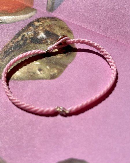 UNISEX SCOSHA x BOW & ARROW CLASSIC DIAMOND BRACELET - CADILLAC PINK