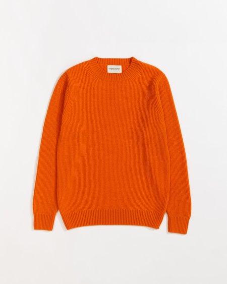 Country of Origin Ribbed Crew Sweater - Orange