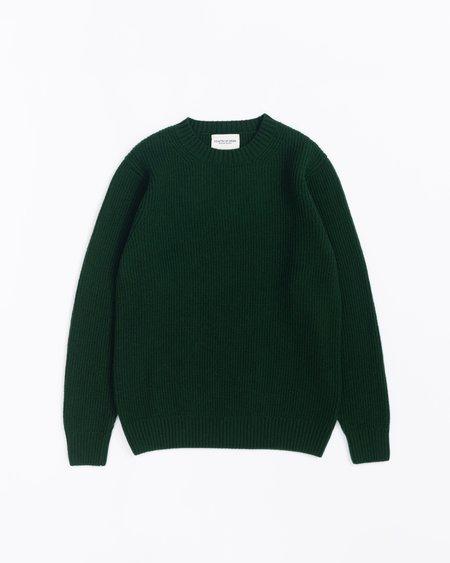 Country of Origin Ribbed Crew Sweater - Tartan Green