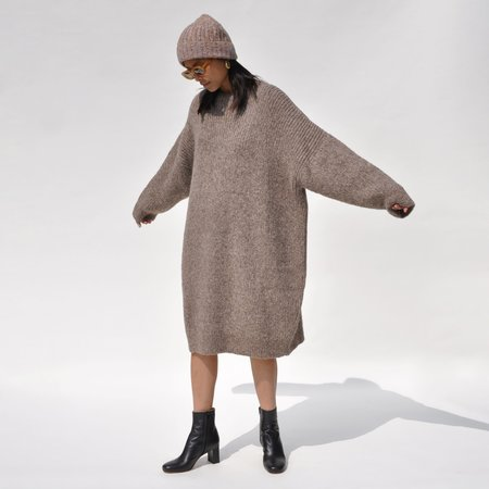 Lauren Manoogian Rib Dress - Wood
