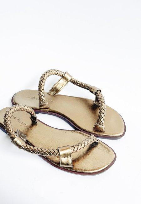 Mari Giudicelli Bardot Sandal - Gold Calfskin