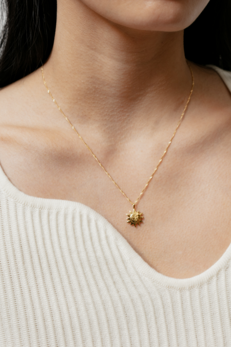 Wolf Circus Sun Charm Necklace - Gold