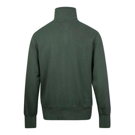 Universal Works Loopback Half Zip Sweat - Green