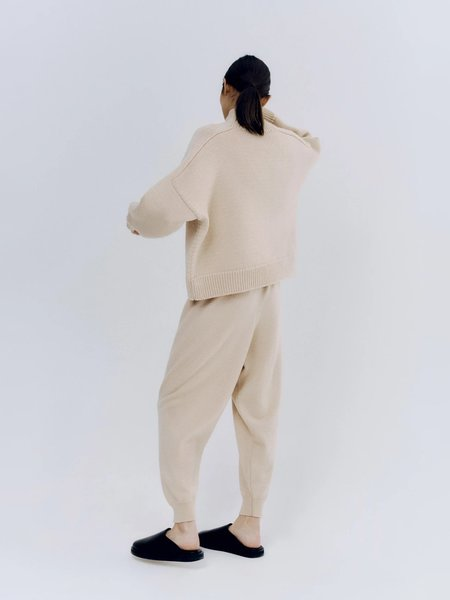 Monica Cordera Wool Saddle Sweater - Beige