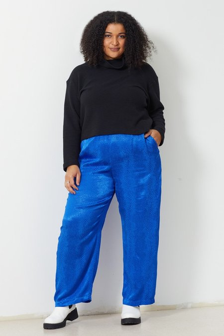 North Of West Ivy Jacquard Pant - Adriatic