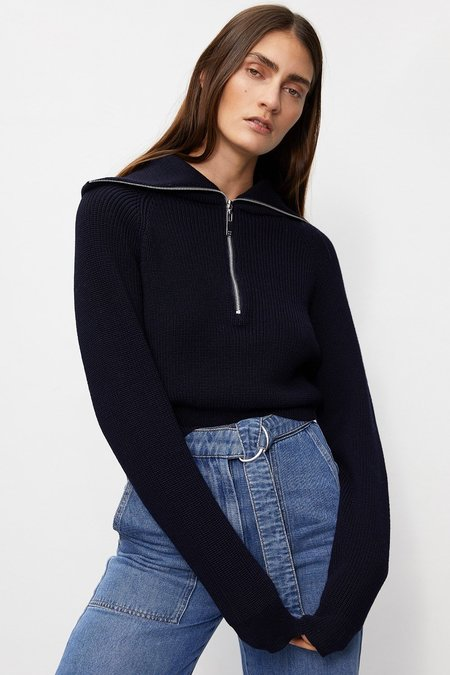 Rohe Carry Navy Knit Sweater - Blue