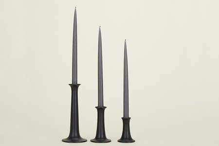 Hawkins New York Simple Candle Holder - Black