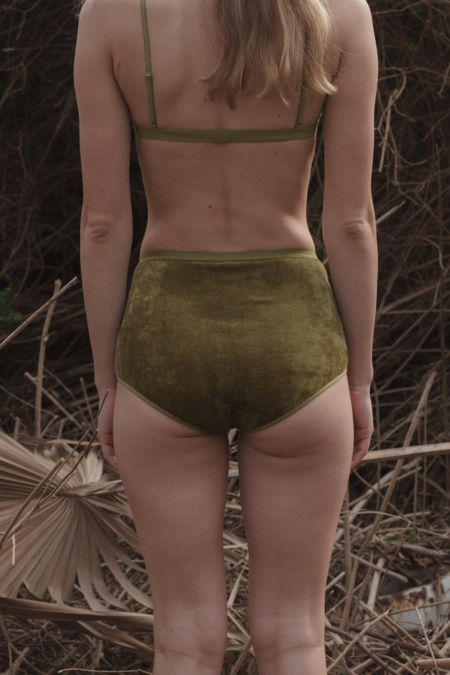 Baserange Highwaisted Bell Pants - Galti Green