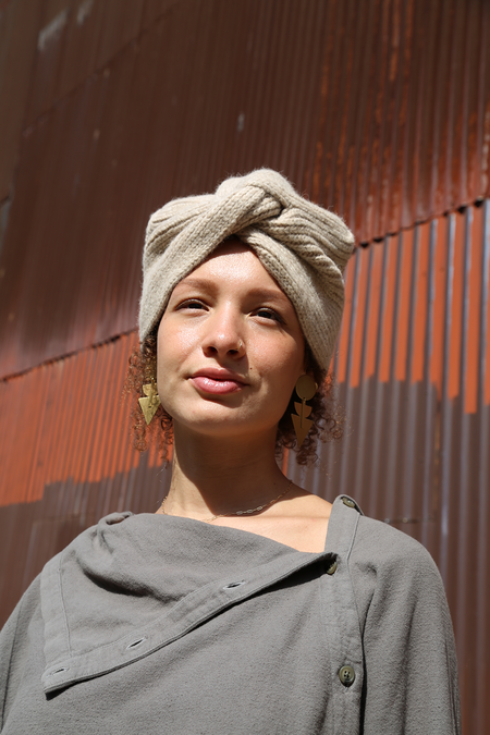 Atelier Delphine Grain Alpaca Turban Beanie