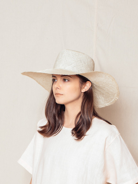 Brookes Boswell OPTIMO PACKABLE HAT IN NATURAL