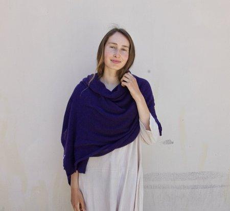 scarf 100% Italian Cashmere Jersey Shawl - Olive