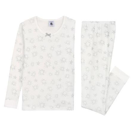 Kids Petit Bateau Child Tullover Pyjamas Set - White