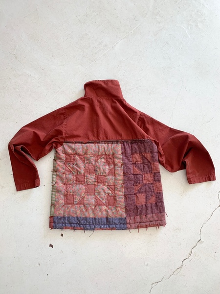 Carleen Quilted Pullover - Burgundy