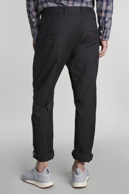 Delikatessen Wool/Cotton Retro Trousers - Dark Grey