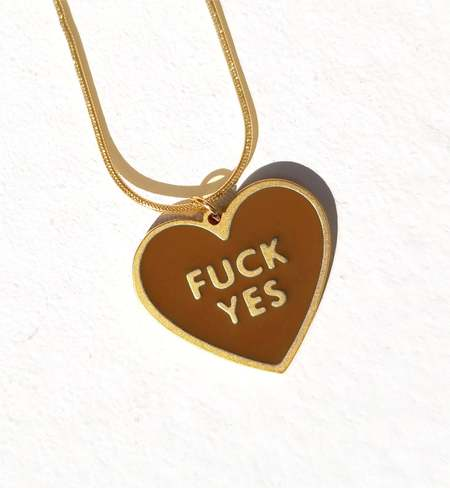 MATTER MATTERS Fuck Yes Necklace - Brown