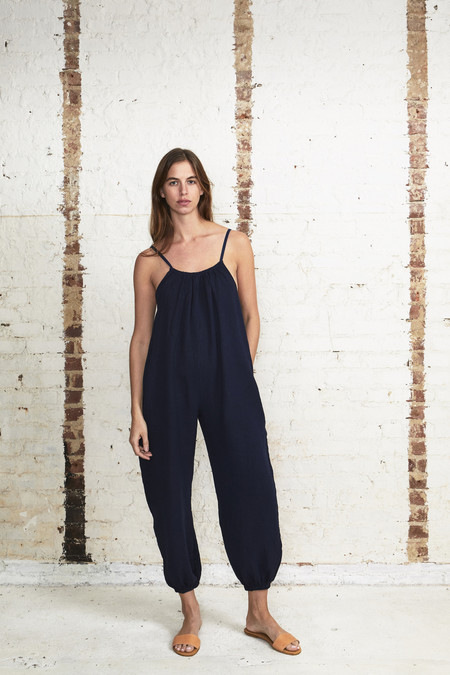 OffSeasonNYC Apolune Lounger Bubble Check Lapis