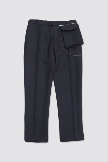 CMMN SWDN Stetson Trousers With Detachable Pouch Black