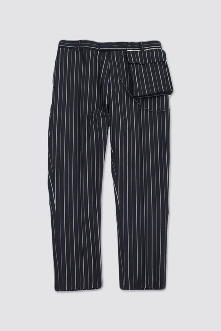 CMMN SWDN Stetson Trousers With Detachable Pouch Pinstripe