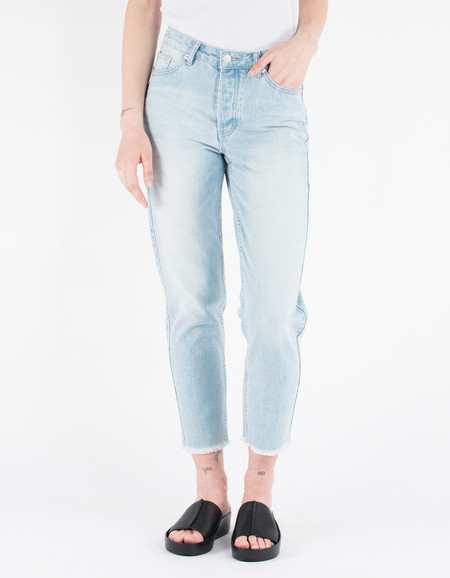 Assembly Label High Waisted Rigid Jean Vintage Fray