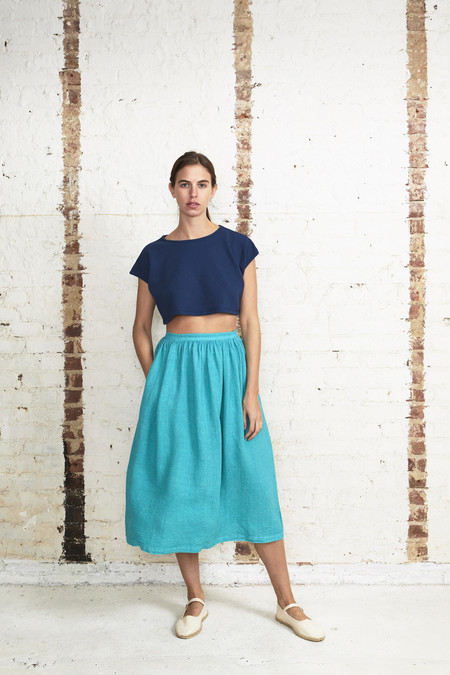 OffSeasonNYC Aster Skirt Malachite