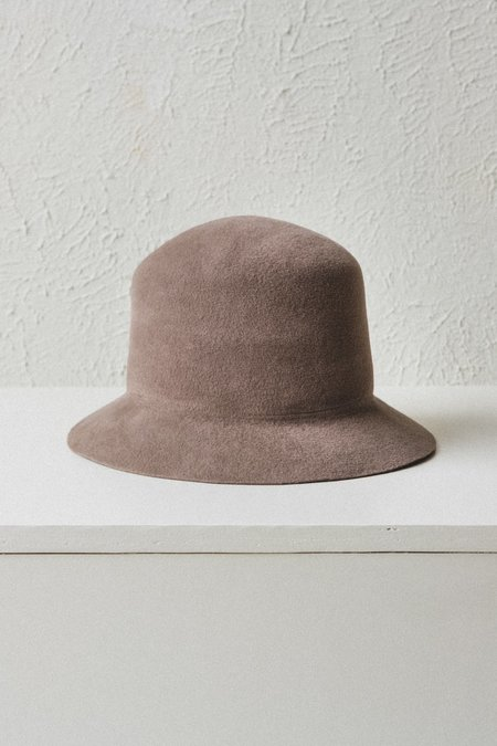 Brookes Boswell VELOUR FELT BUCKET HAT