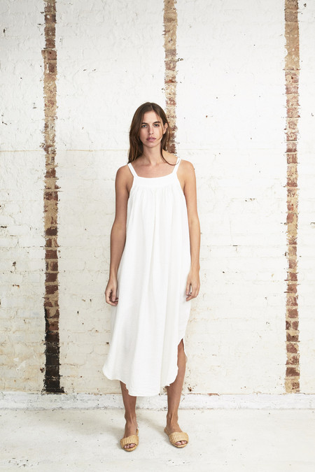 OffSeasonNYC Orbit Dress Bubble Check Gypsum