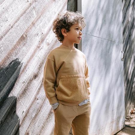 Kids Nico Nico Child Ira Fleece Sweatshirt - Camel Brown