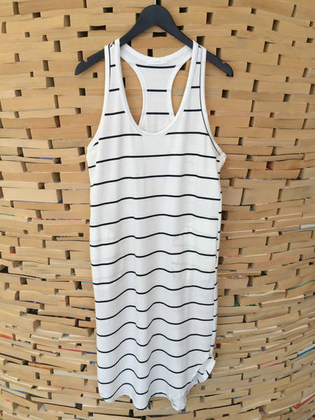 Lush Racerback Striped Dress