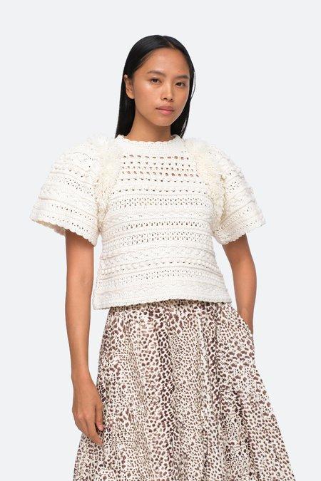 Sea NY Darcy S/S Sweater - Cream