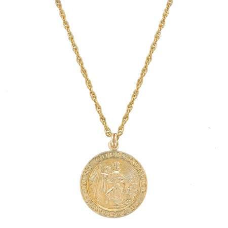 Mod + Jo - Saint Christopher Medallion Necklace - Gold