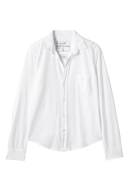 Tee Lab Barry Knit Button Up - White