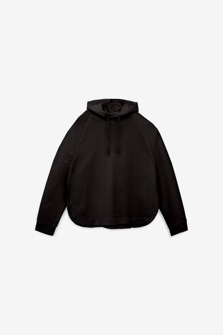 YMC Big Cotton Loopback Hoody - Black