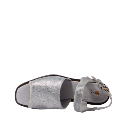 Michons Marigot GLITTER FUZZ SANDALS - Silver