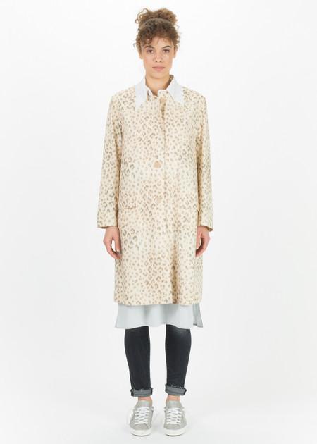 Hache Faded Leopard Print Coat