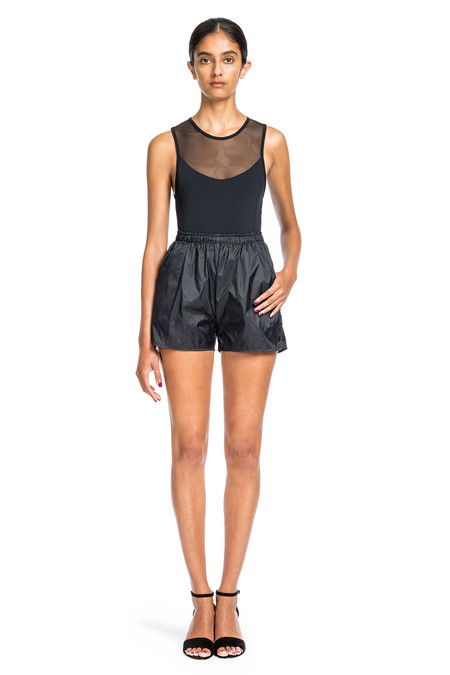 Beth Richards Nylon Short-Black Short With Pockets